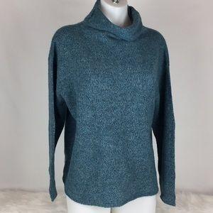 Eileen Fischer Blue Wool Blend Sweater